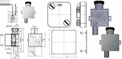 Встроенный сифон DN32 для сброса дренажа от кондиционеров HL138