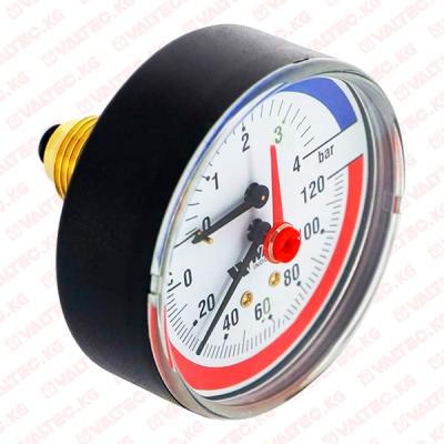 """Термоманометр аксиальный 1/2"""" (15 мм) 80 мм Watts"""