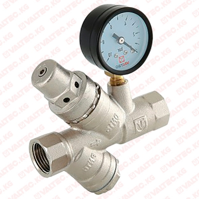 Подпиточный клапан с фильтром и манометром Valtec