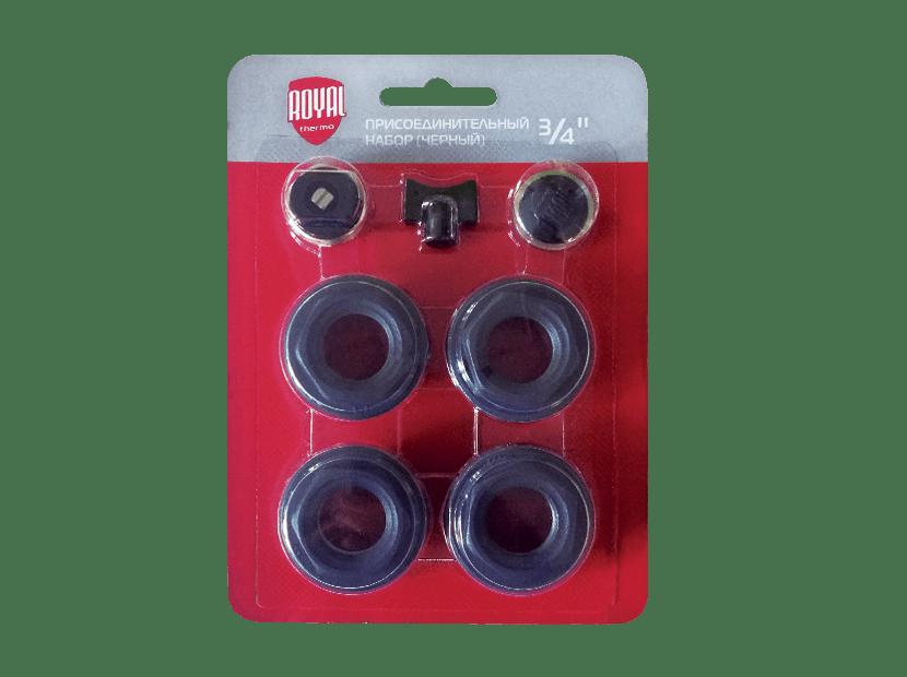 Комплект для монтажа радиаторов Royal Therm Черный