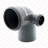 Отвод комбинированный с доп. выходом справа 110х90/50, РТП