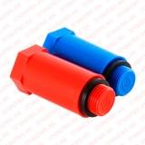 """Комплект длинных PPR пробок  с резьбой  1/2"""" (красная + синяя), VALTEC"""